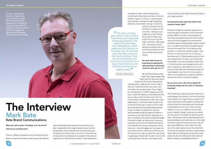 Mark Bate, brand interview