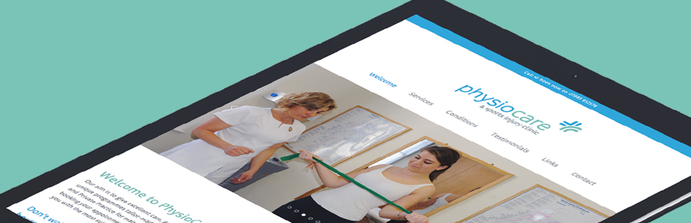 Physiocare - Re-brand, website, advertising campaign and signage