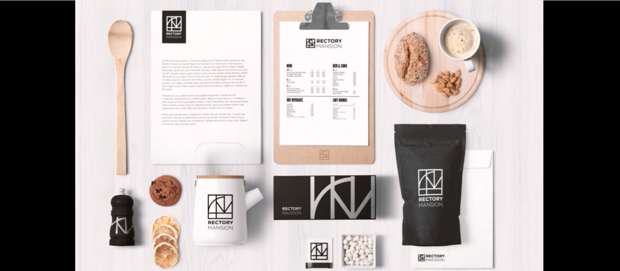 Rectory Mansion brand identity