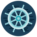 Ship's wheel illustration