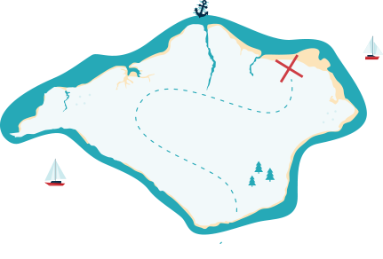 Island treasure map